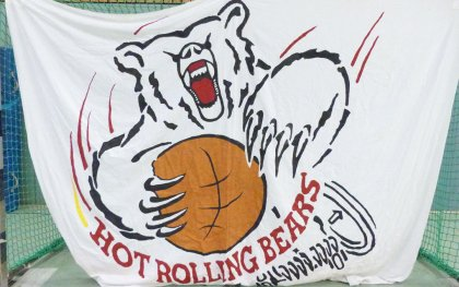 Hot Rolling Bears Logofahne Lokal Sport Essen